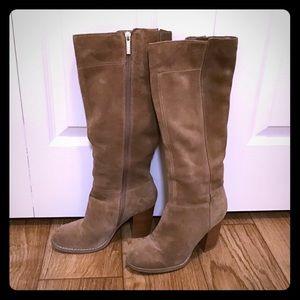 Nine West Knee High Suede Boots Sz 8